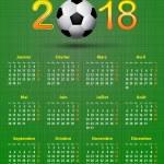 Постер, плакат: French calendar 2018 Soccer theme linen back soccer ball calend