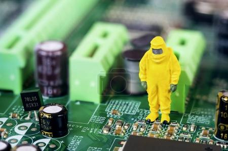 Motherboard Reparatur- oder Diagnosekonzept