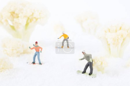 Snowboarding toy people