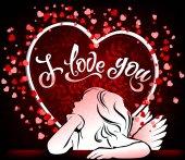 Beautiful card I love you with angel