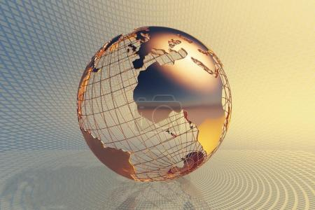 World global business background