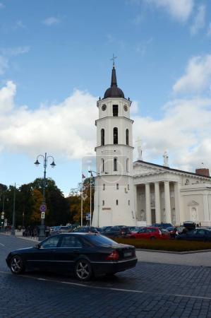 Belltower (XVIII century.) The Cathedral of St. Stanislaus in Vilnius.