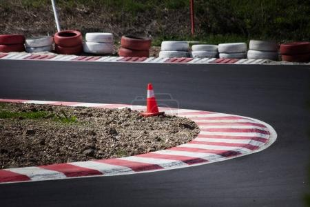 corner of the gokart track