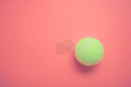 tennis ball on pastel color  background