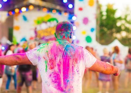 Photo for Guy celebrate holi festival - Royalty Free Image