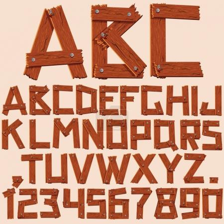 Wooden Planks Alphabet
