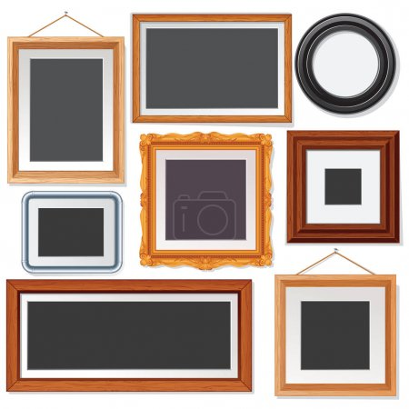 Various Picture and Photo Frames onWhite Wall