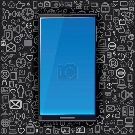Smart Phone on Background
