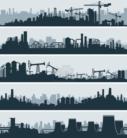Abstract Industrial Skyline, Urban Cityscape