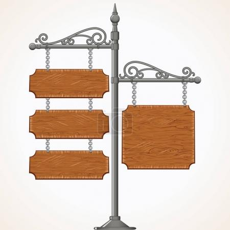 Antique Signboard Isolated Image of Signpost