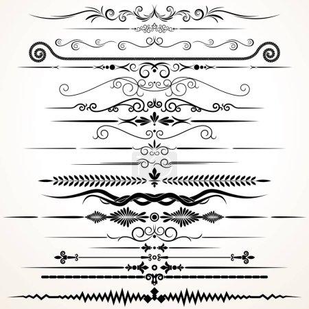Decorative Ornament Rule Lines. Image