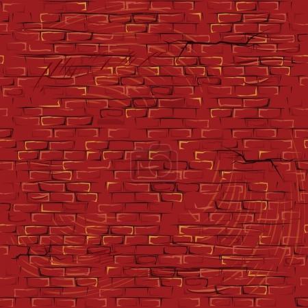 Seamless Cartoon Grunge Brickwall. Pattern