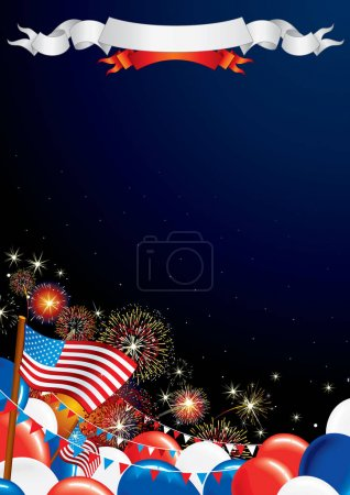 Fourth of July. USA Independence Day Theme