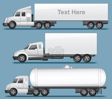Abstract Modern Trucks, Autotruck Vector Icons
