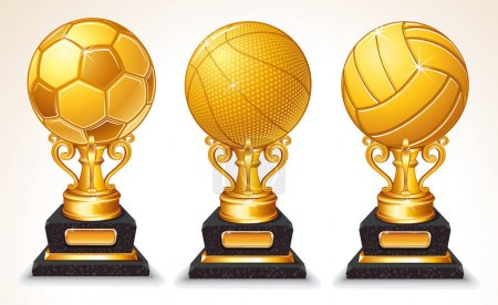 Abstract Gold Sport Ball Trophy
