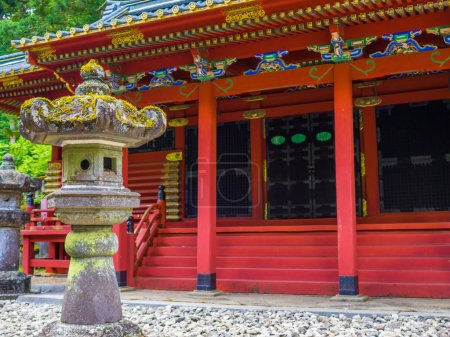 Tokyo, Japan - August 24, 2017: Beautiful view of Large Gomado of Rinno ji, Nikko, Rinno ji is a complex of 15 Buddhist temple buildings in Nikko. It is National Treasures of Japan and World Heritage