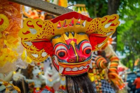 BALI, INDONESIA - MARCH 08, 2017: Impresive hand made structure, Ogoh-ogoh statue built for the Ngrupuk parade, which takes place on the even of Nyepi day in Bali, Indonesia. A Hindu holiday marked by