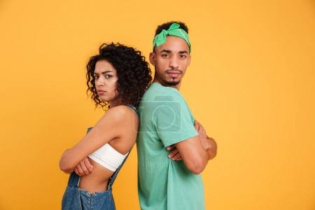 Portrait of an upset young african couple