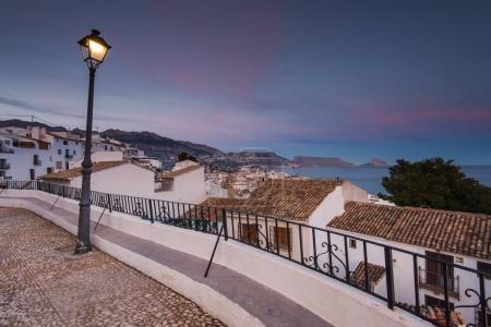 Panoramic vista from balcony in Altea, Spain