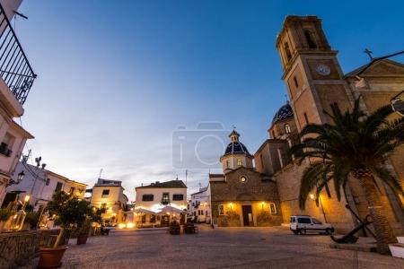 Cathedral in Altea at dusk