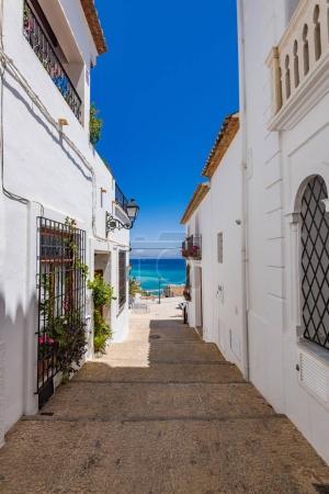 Narrow street in Altea,Spain