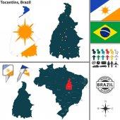 Map of Tocantins Brazil