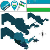Map of Uzbekistan with Regions