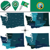 Map of Washington with Regions