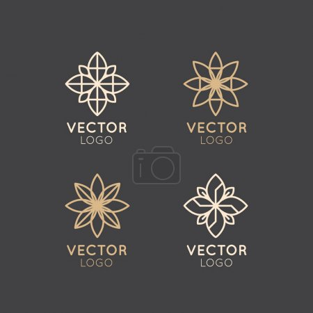 Vector Icon Style Logo Sign of  Alternative Medicine