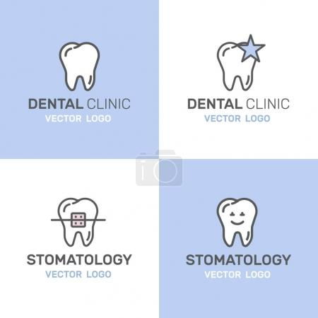 Dental Care and Disease, Treatment Concept, Tooth Cure Orthodontics, Stomatology and Med Clinic