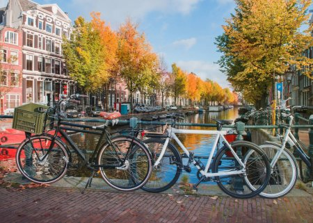 Bicycles at an Amsterdam canal