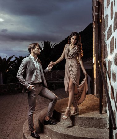Photo for Portrait of an elegant couple on the date - Royalty Free Image