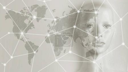 Artificial intelligence concept - Internet, network, globalizati