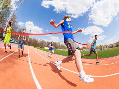 Teenage sprinter wins