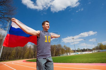 sprinter with flag of Russian Federation