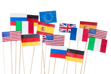 USA and european small flags
