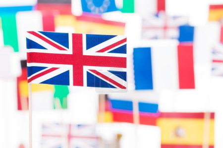 Great Britain with European and USA flags