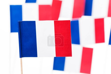 Small paper flags of France