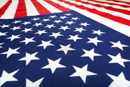 American flag laying on flatness