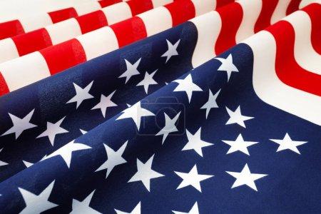 Ruffled United States of America flag