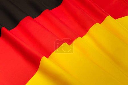 silky pleated Germany flag