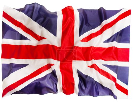 Great Britain flag of silk