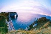 Etretat chalk cliffs