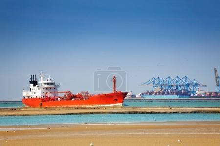 Huge cargo tank ship