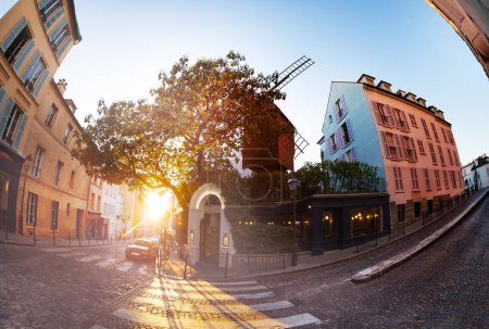 Oldest windmill of Montmartre and