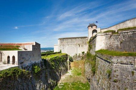 Famous citadel of Besancon against blue sky, France, Europe