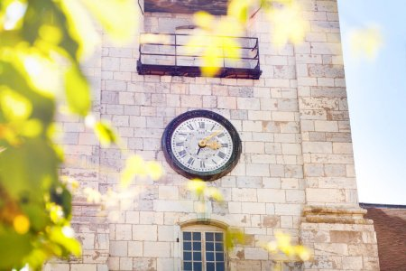 Clock tower of St. Jean Cathedral in Besancon, France