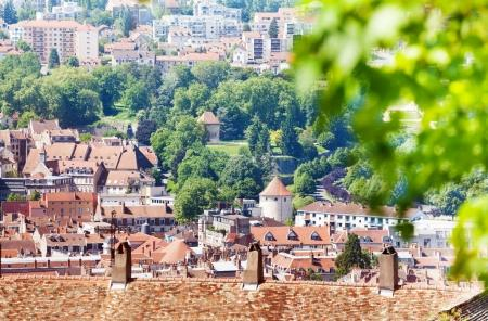 Beautiful cityscape of Besancon in summer, France, Europe