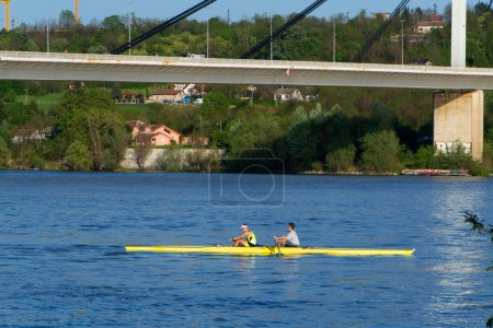 Rowing on the Danube