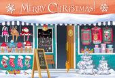 Christmas Market greeting card